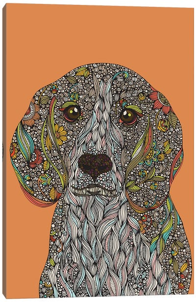 Zoey The Dog Canvas Art Print