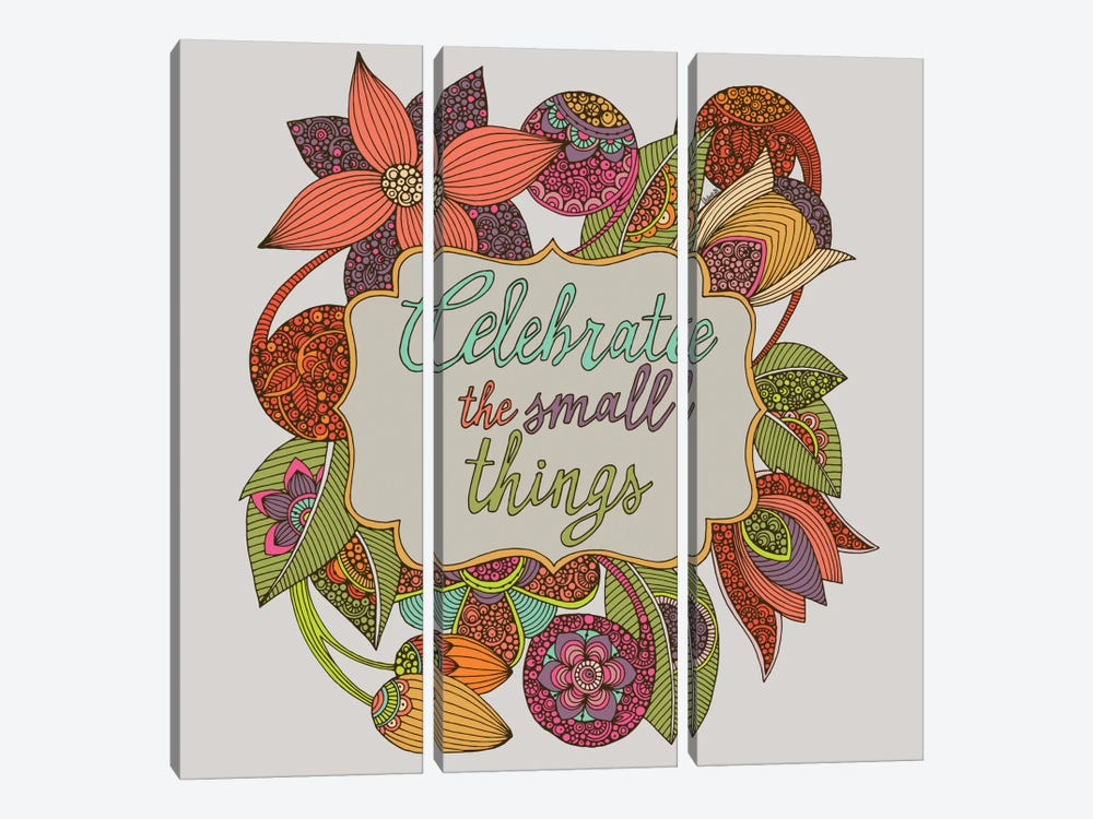 Celebrate The Small Things 3-piece Art Print