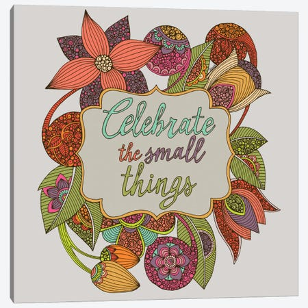 Celebrate The Small Things Canvas Print #VAL57} by Valentina Harper Canvas Artwork