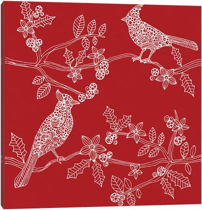 Christmas Birds Canvas Art Print
