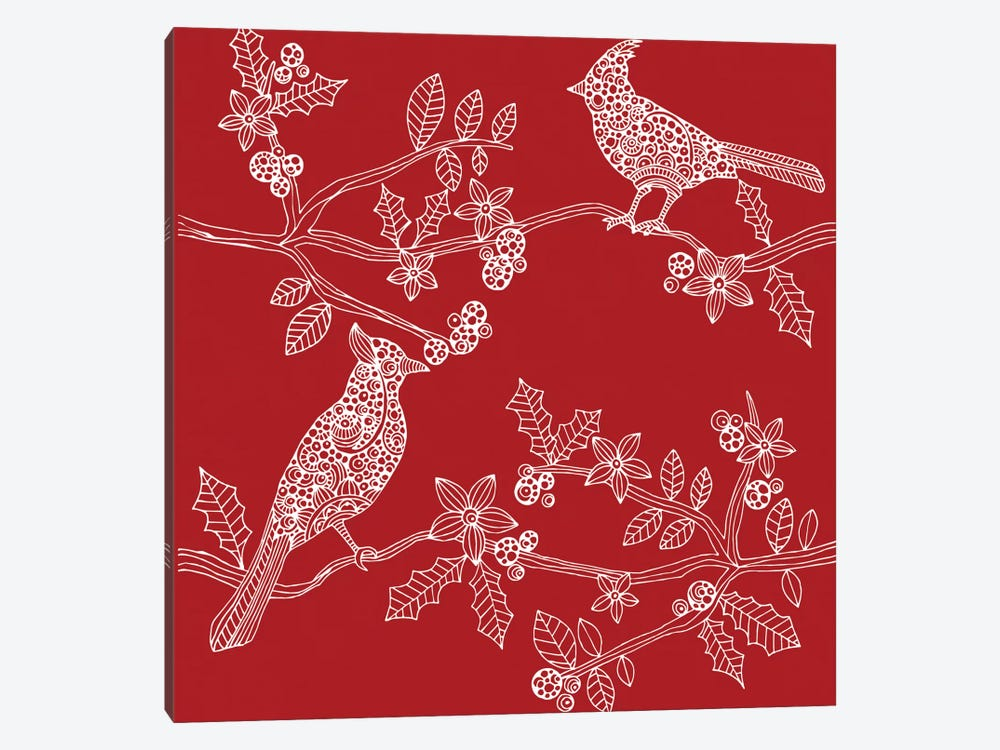 Christmas Birds by Valentina Harper 1-piece Canvas Art