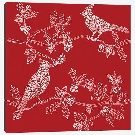Christmas Birds Canvas Print #VAL58} by Valentina Harper Canvas Print
