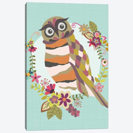Cute Owl Canvas Print #VAL68} by Valentina Harper Canvas Artwork