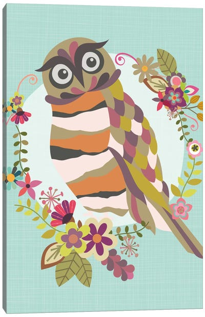 Cute Owl Canvas Art Print