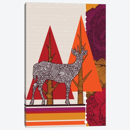 Deer In Woodland Canvas Print #VAL75} by Valentina Harper Canvas Art