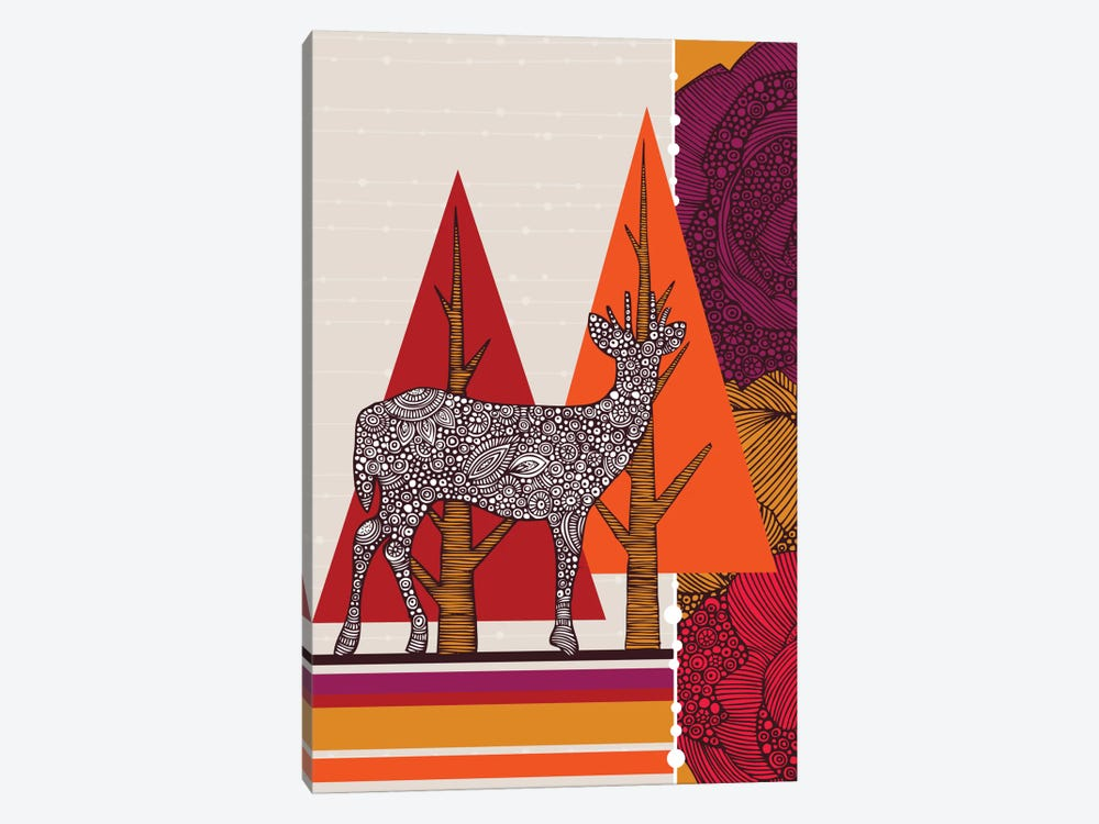Deer In Woodland 1-piece Art Print