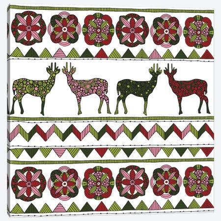 Deer Pattern I Canvas Print #VAL76} by Valentina Harper Canvas Artwork