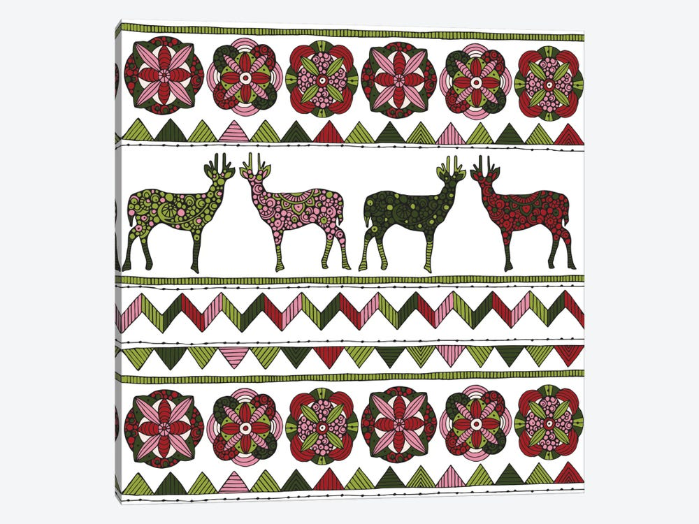 Deer Pattern I by Valentina Harper 1-piece Canvas Wall Art