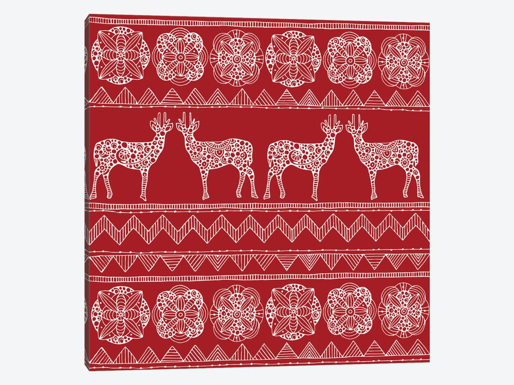 Deer Pattern II by Valentina Harper 1-piece Canvas Art Print