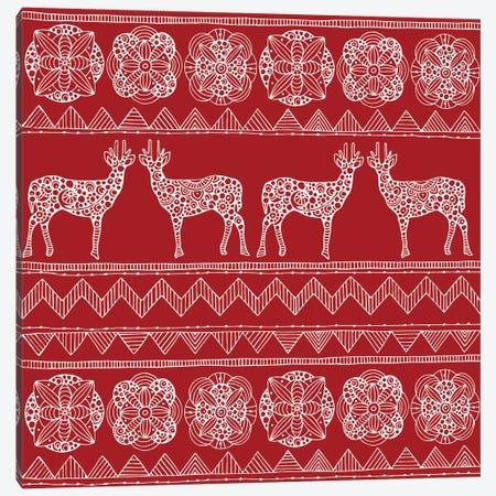 Deer Pattern II Canvas Print #VAL77} by Valentina Harper Canvas Artwork