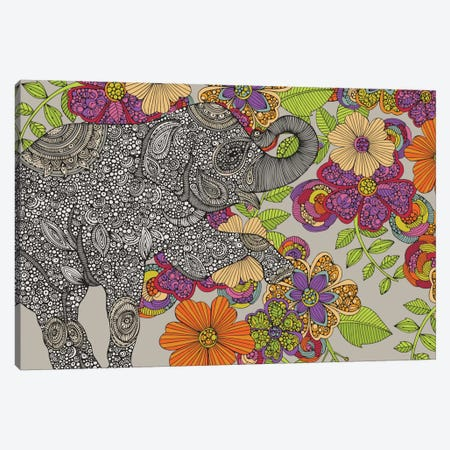 Elephant Puzzle Canvas Print #VAL89} by Valentina Harper Canvas Art