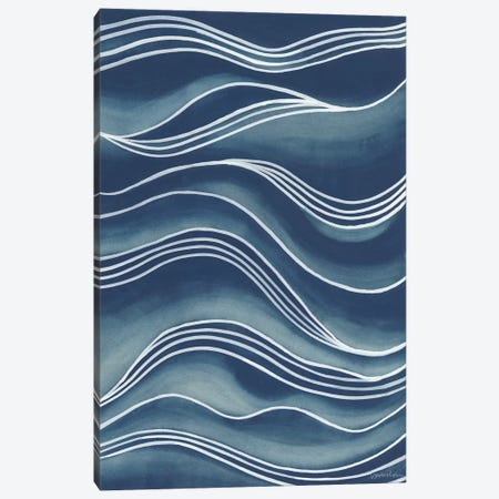 Wind & Waves I Canvas Print #VAN12} by Vanna Lam Art Print