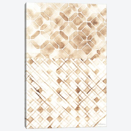 Sepia Madras I Canvas Print #VAN22} by Vanna Lam Canvas Wall Art