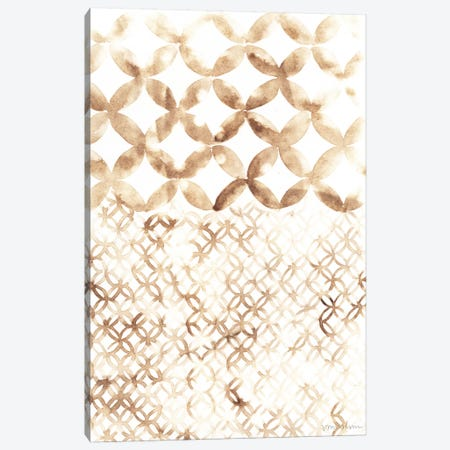 Sepia Madras IV Canvas Print #VAN25} by Vanna Lam Art Print