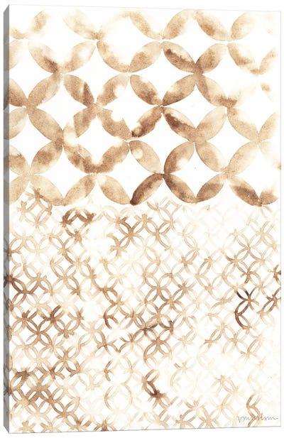 Sepia Madras IV Canvas Art Print
