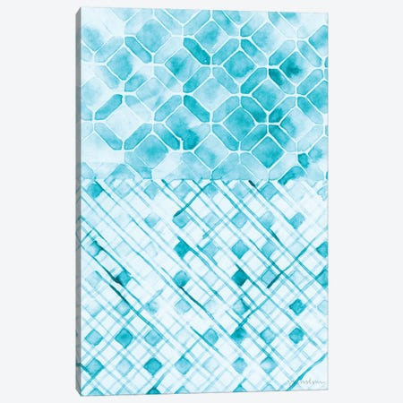 Teal Madras I Canvas Print #VAN26} by Vanna Lam Canvas Print