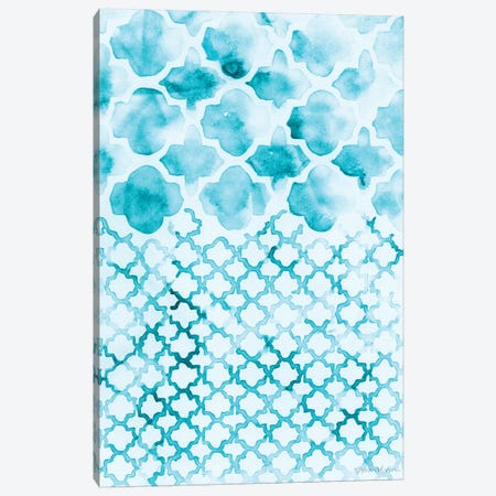 Teal Madras II Canvas Print #VAN27} by Vanna Lam Canvas Art Print