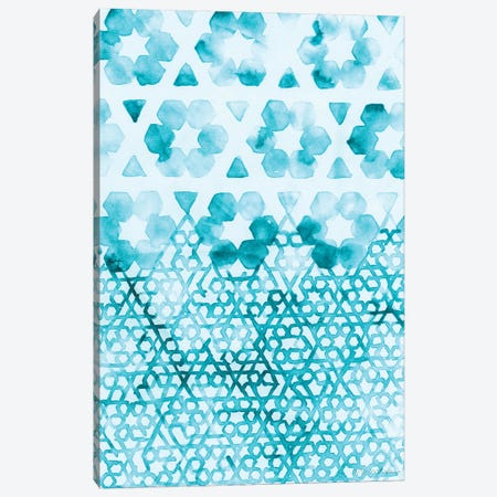 Teal Madras III Canvas Print #VAN28} by Vanna Lam Canvas Artwork