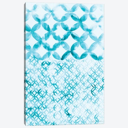 Teal Madras IV Canvas Print #VAN29} by Vanna Lam Canvas Wall Art
