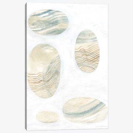 Neutral River Rocks III Canvas Print #VAN51} by Vanna Lam Art Print