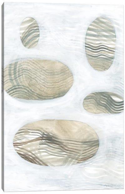 Neutral River Rocks IV Canvas Art Print