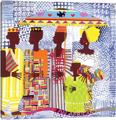 We Are African People Canvas Print #VAR5