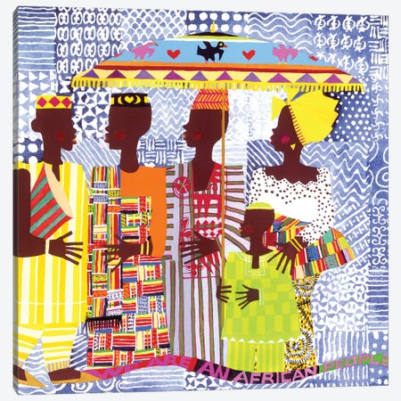 We Are African People 3-Piece Canvas #VAR5} by Varnette Honeywood Canvas Art Print
