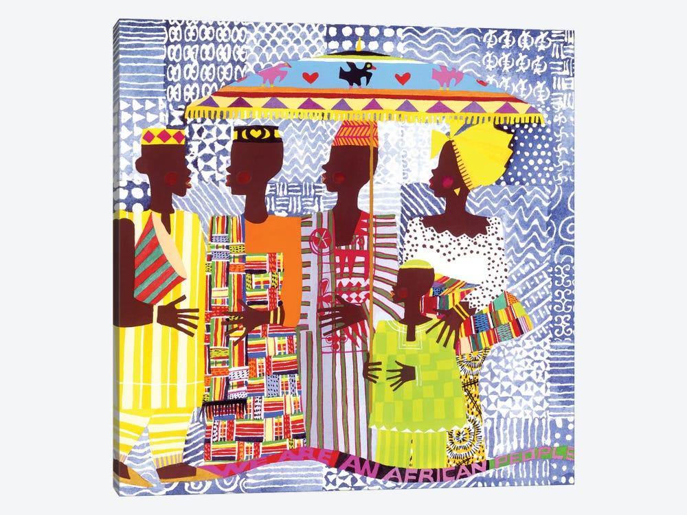 We Are African People by Varnette Honeywood 1-piece Canvas Print