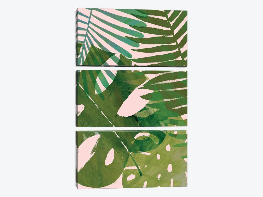 Tropical Tangle II 3-piece Canvas Wall Art