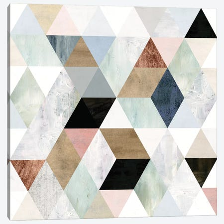 Watercolor Mosaic I 3-Piece Canvas #VBO101} by Victoria Borges Canvas Artwork