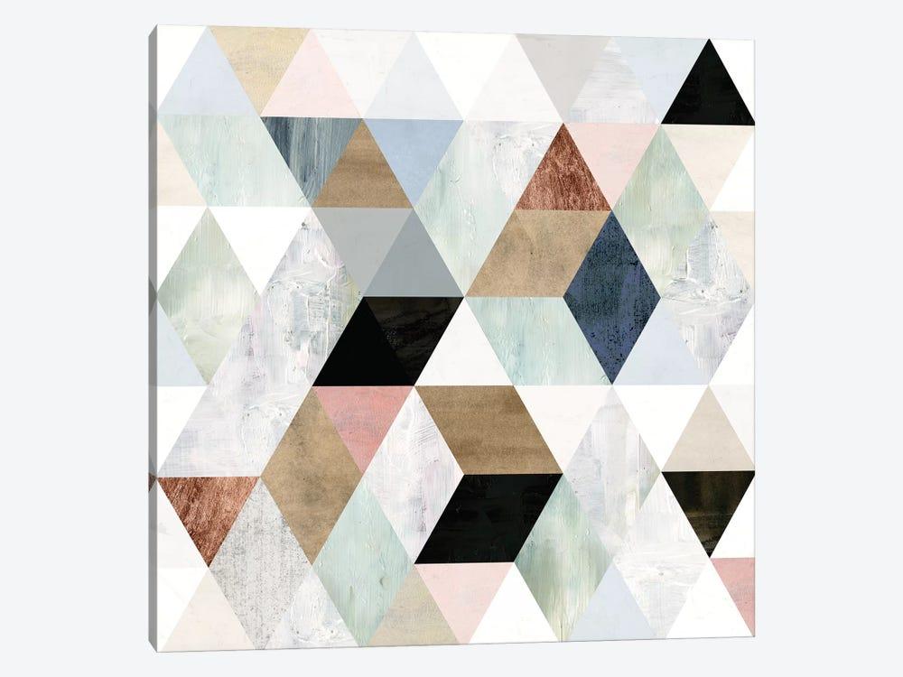 Watercolor Mosaic I by Victoria Borges 1-piece Canvas Art Print