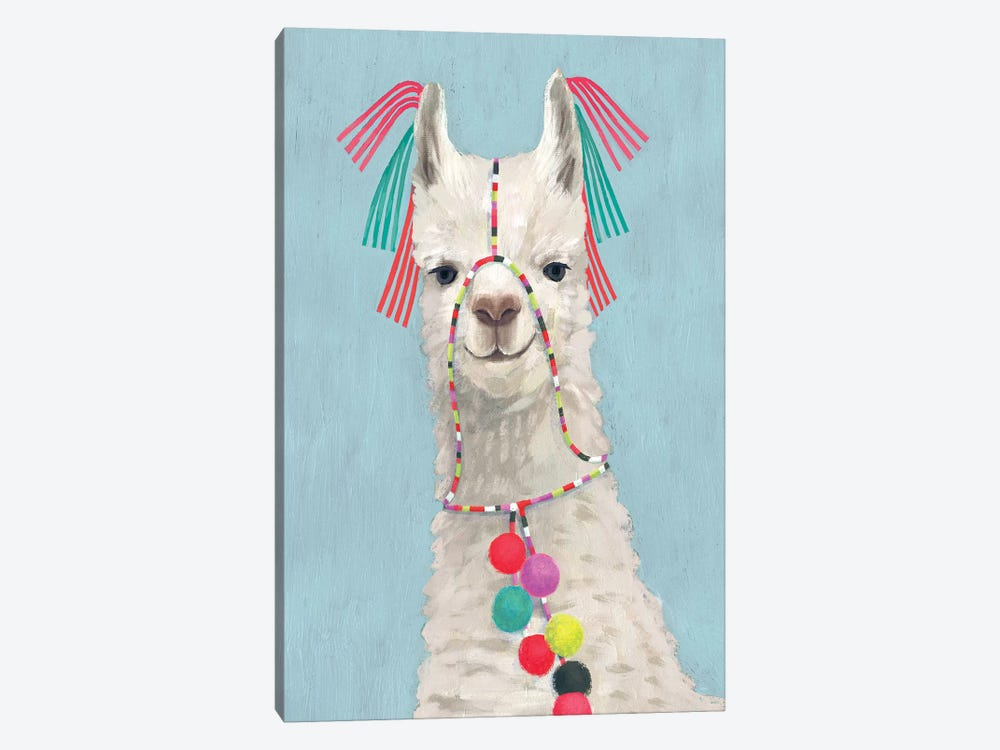 Adorned Llama II by Victoria Borges 1-piece Canvas Artwork