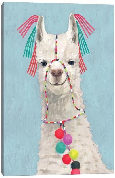 Adorned Llama II Canvas Art Print