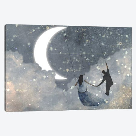 Celestial Love I Canvas Print #VBO115} by Victoria Borges Canvas Art