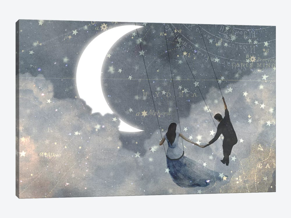 Celestial Love I by Victoria Borges 1-piece Canvas Artwork