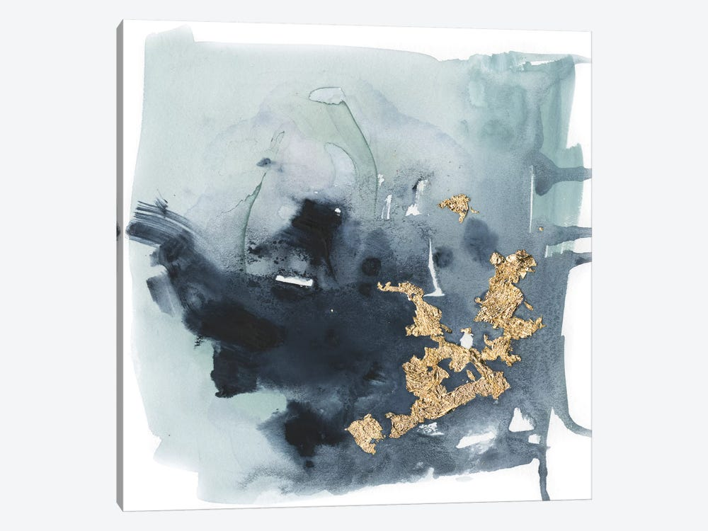 Cerulean & Gold I by Victoria Borges 1-piece Canvas Artwork