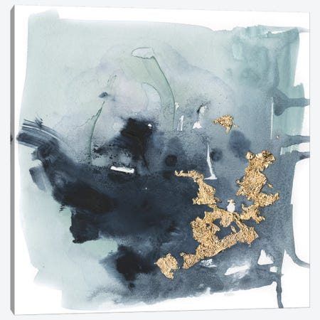 Cerulean & Gold I Canvas Print #VBO119} by Victoria Borges Canvas Art Print