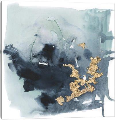 Cerulean & Gold I Canvas Art Print