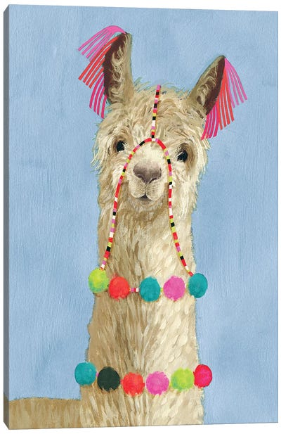 Adorned Llama III Canvas Art Print