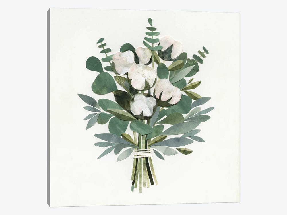 Cut Paper Bouquet III by Victoria Borges 1-piece Canvas Art Print