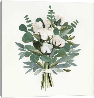 Cut Paper Bouquet III Canvas Art Print