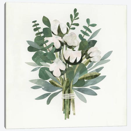 Cut Paper Bouquet IV Canvas Print #VBO128} by Victoria Borges Canvas Wall Art