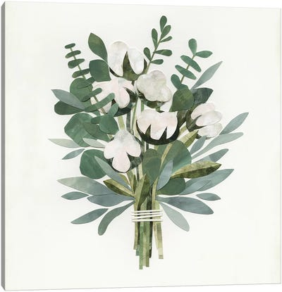 Cut Paper Bouquet IV Canvas Art Print