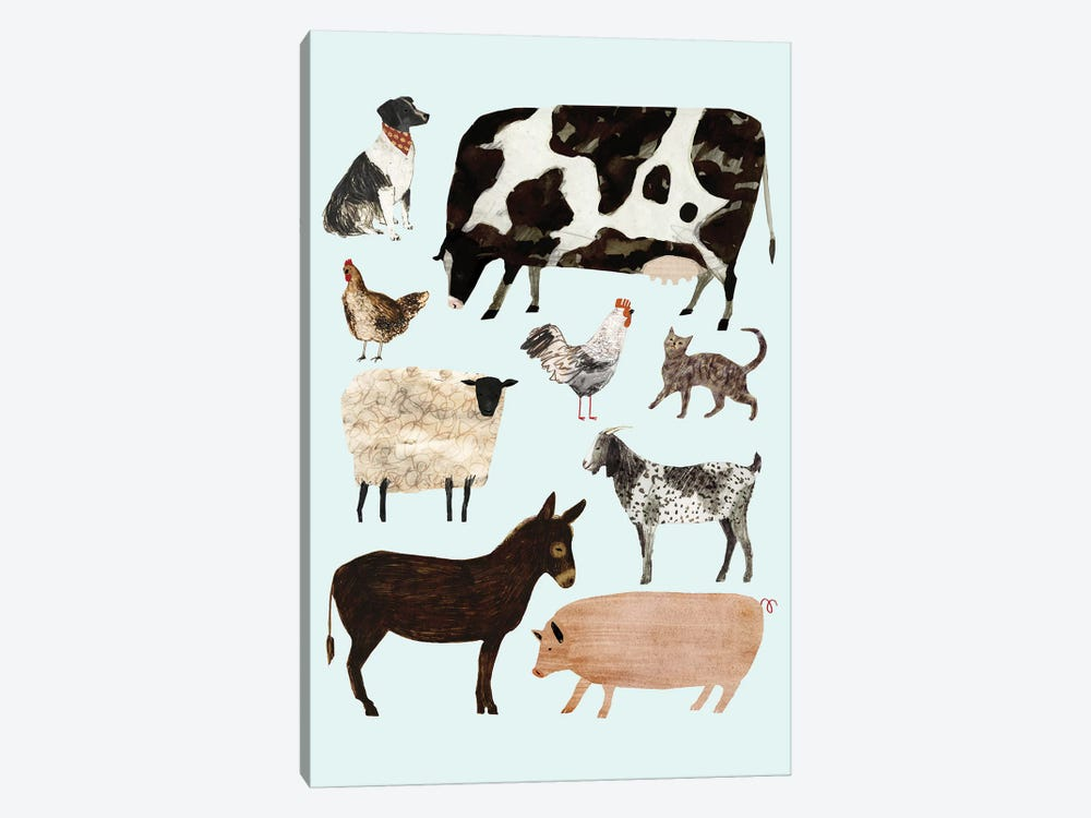 Barnyard Buds I by Victoria Borges 1-piece Canvas Print