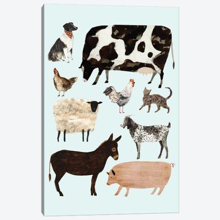 Barnyard Buds I 3-Piece Canvas #VBO13} by Victoria Borges Canvas Artwork