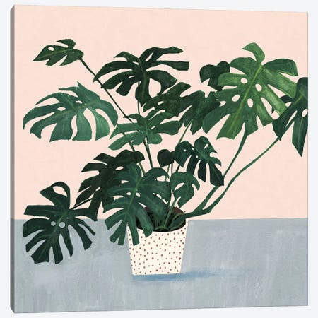 Houseplant III Canvas Print #VBO141} by Victoria Borges Canvas Artwork