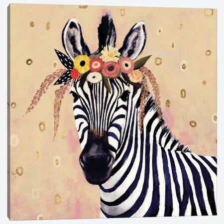 Klimt Zebra II 3-Piece Canvas #VBO148} by Victoria Borges Canvas Artwork