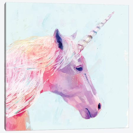 Mystic Unicorn I Canvas Print #VBO153} by Victoria Borges Canvas Print