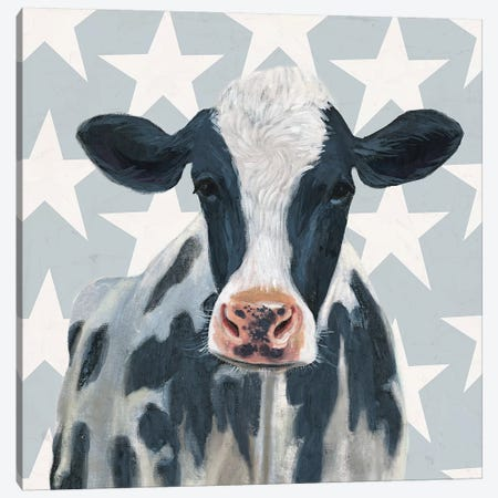 Patriotic Farm II Canvas Print #VBO158} by Victoria Borges Canvas Print