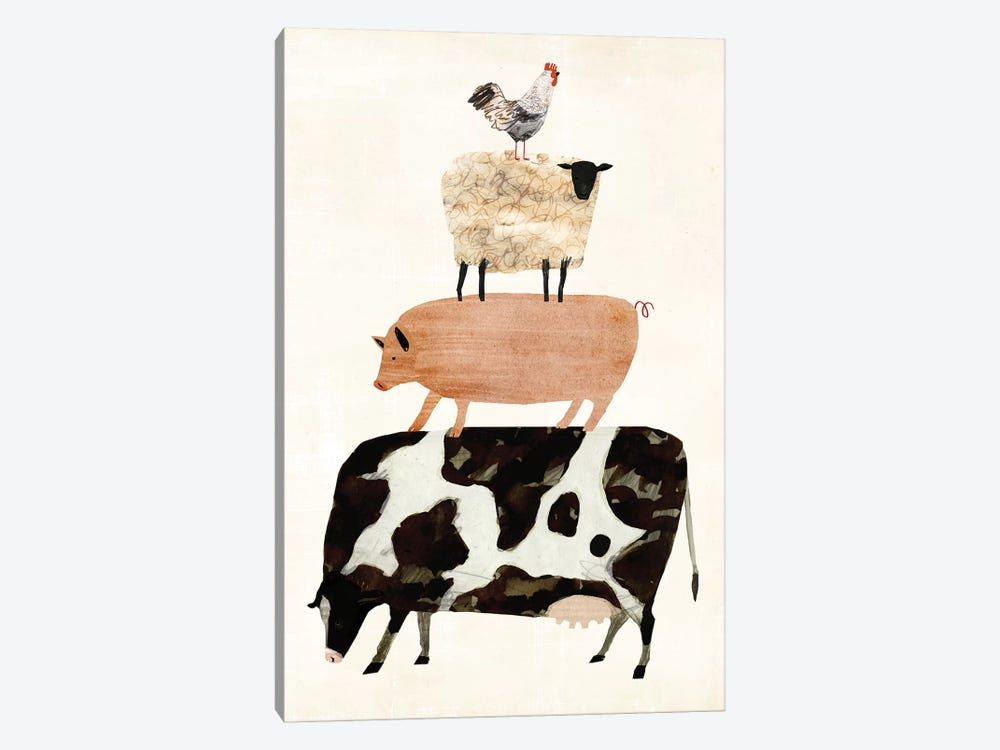 Barnyard Buds III by Victoria Borges 1-piece Canvas Art Print